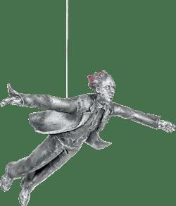 Bronzefigur Freefall (him) von Michal Trpák