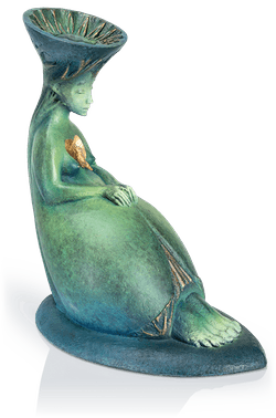 Bronzefigur »Singing bird« von Fidelma Massey