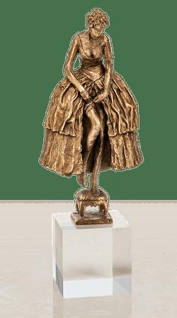 Bronzeskulptur-Braut