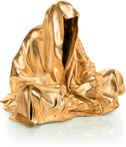 Bronzefigur Guardian (vergoldet) von Manfred Kielnhofer