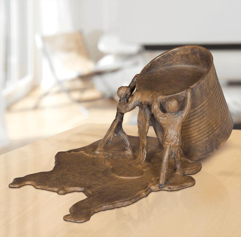 Bronzefigur Umwelt von Michel Favre