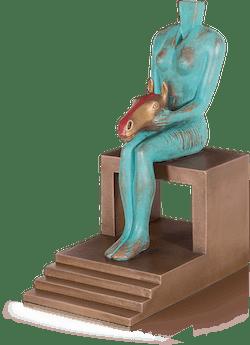 Bronzefigur Herzdame von Günther Stimpfl