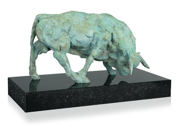 Bronzefigur Sonnen säen von Martin Pottgiesser