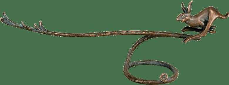 Bronzefigur Hasenpanier von Kurtfritz Handel