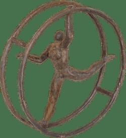 Bronzefigur Rhönrad von Hans Neuwirth