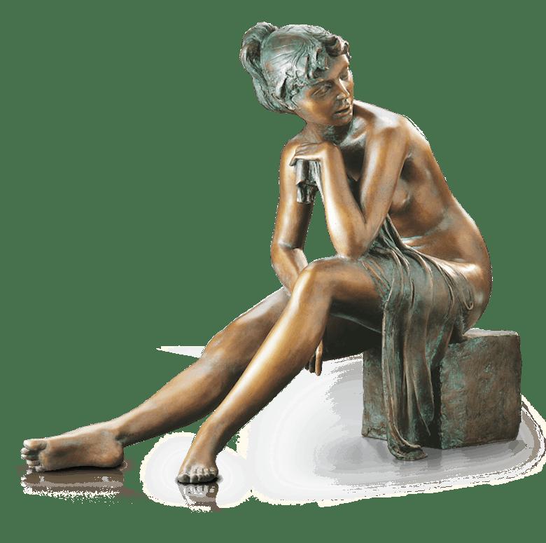 Bronzefigur Ich lausche dem Gesang der Vögel von Erwin A. Schinzel