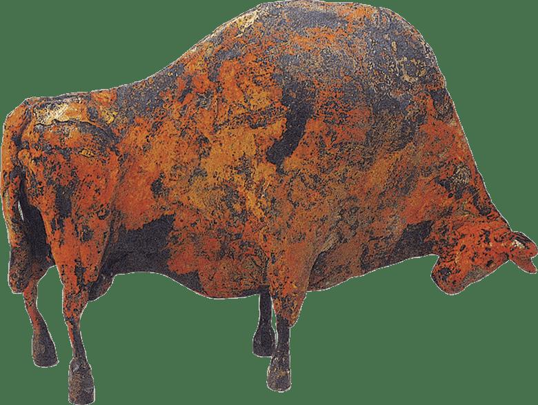 Bronzefigur Stier von Hermann Schwahn
