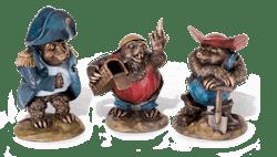 Bronzefigur Set Maulwürfe von Atelier Strassacker