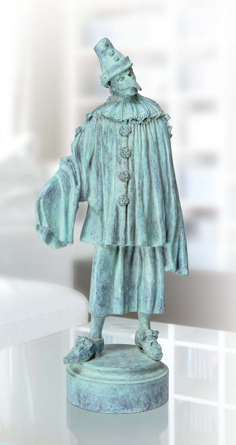 Bronzefigur Der Ästhet von Thomas Schöne