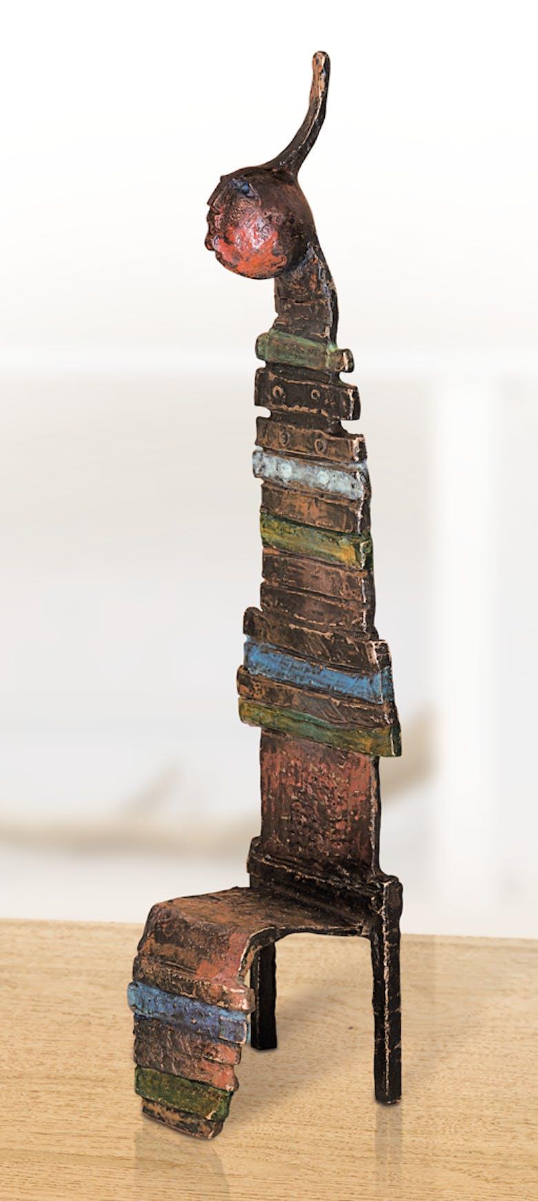 Bronzefigur Chaise magique II von Bettina  Scholl-Sabbatini