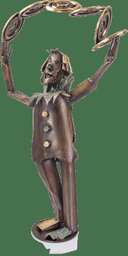 Bronzefigur Jongleur von Ulrich Barnickel