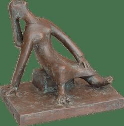 Bronzefigur Sitzende von Reinhard Verstege