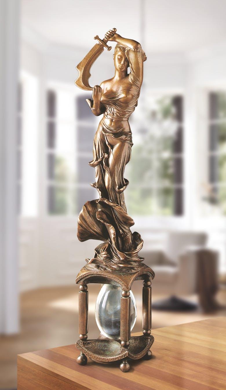 Bronzefigur Maria Prophetissa, hellbraun von Ernst Fuchs