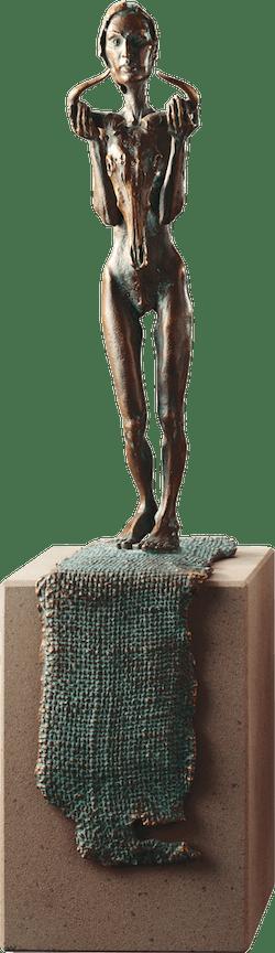 Bronzefigur Die Wüstenkönigin von Woytek