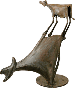 Bronzefigur Kuh im Schatten von Kurtfritz Handel
