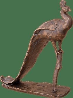 Bronzefigur Pfau von Gotthelf Schlotter