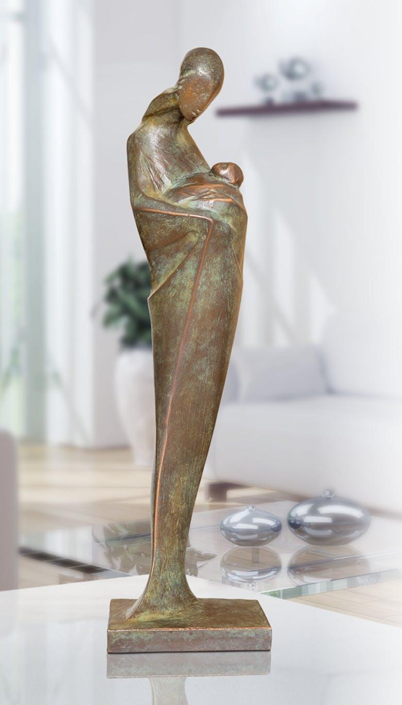 Bronzefigur Mutter mit Kind von Pepi Pescollderungg