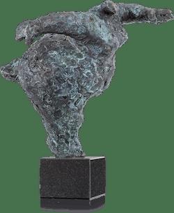 Bronzefigur Balance 30 von Wim Heesakkers