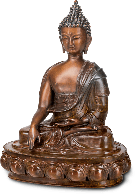 Bronzefigur Buddha Sakyamuni von Atelier Strassacker