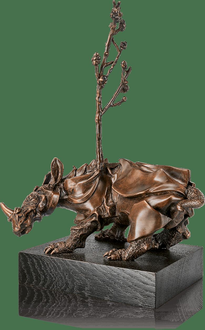 Bronzeskulptur-Rhinozeros