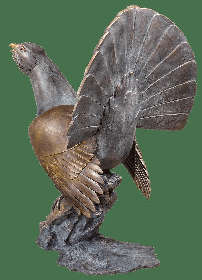 Bronzeskulptur Auerhahn