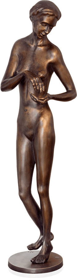 Bronzefigur Hinwendung von Rüdiger Schwenk