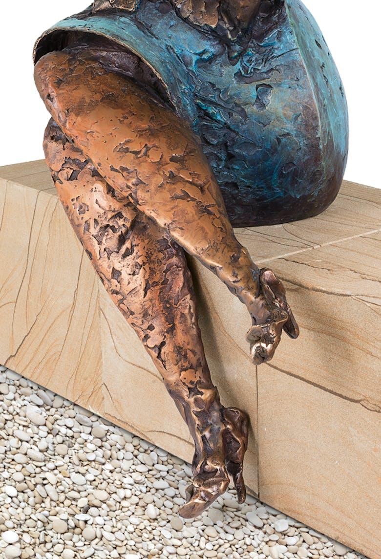 Bronzefigur Unglaublich von Eva Roucka