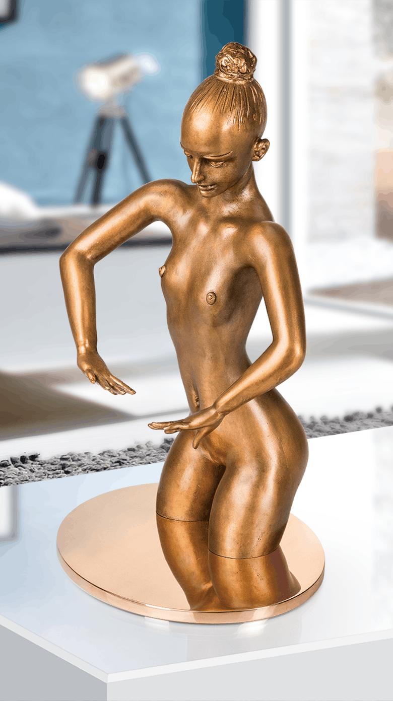 Bronzefigur Badende von Waldemar Schröder