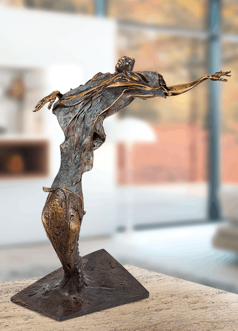 Bronzefigur Herbst von Woytek