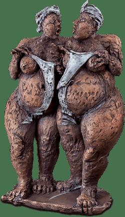 Bronzefigur Quellnymphen von Eva Roucka
