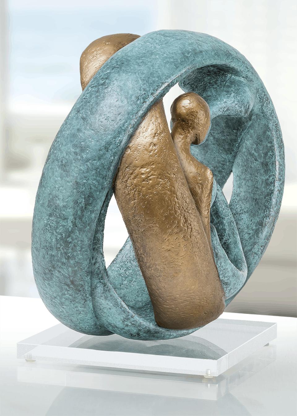 Bronzefigur Family II von Andrea Kraft