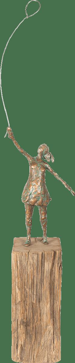 Bronzefigur Mädchen mit Luftballon von Gudrun Rienhardt