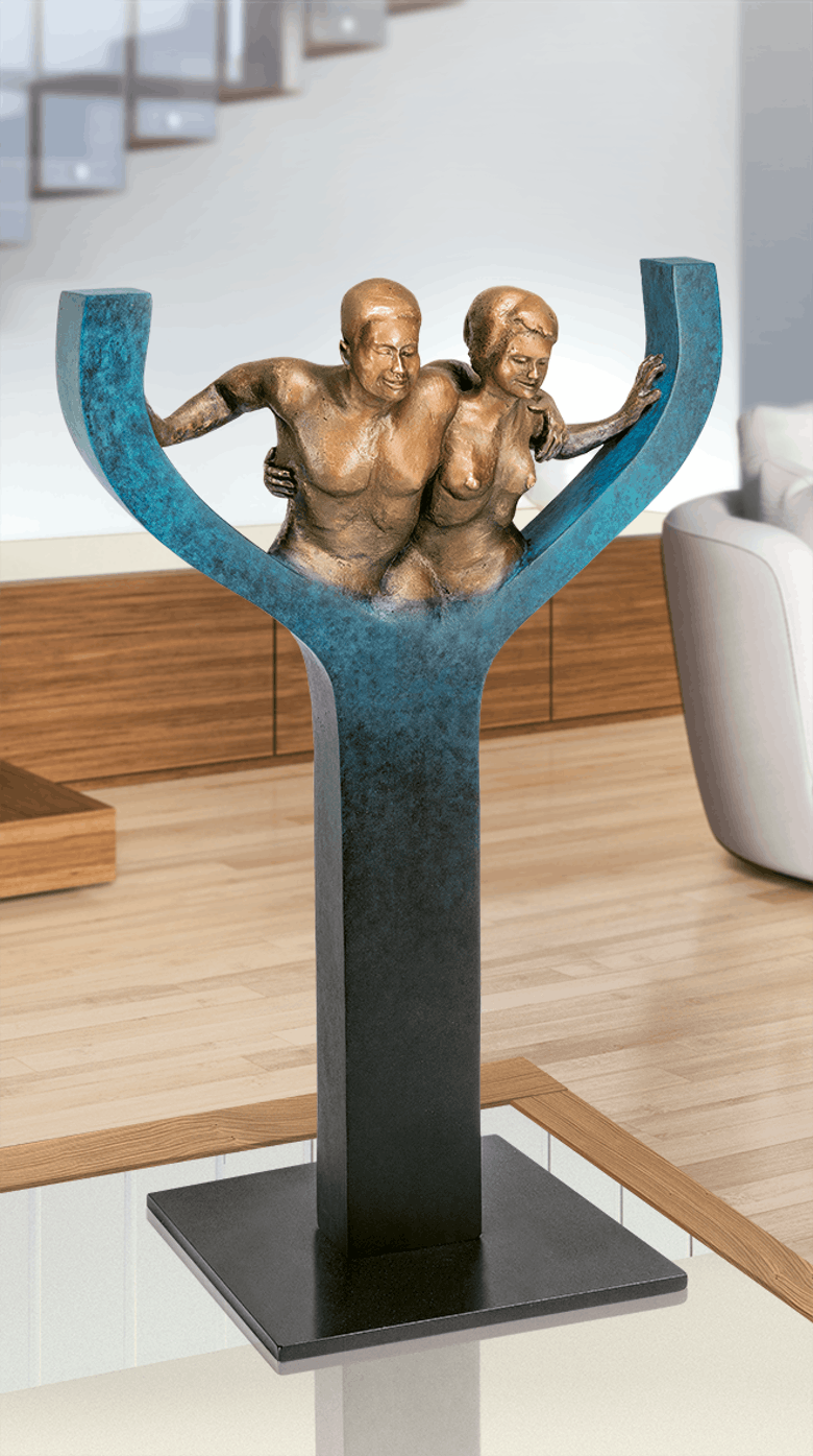 Bronzefigur Together von Annie Jungers