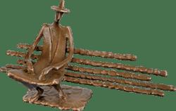Bronzefigur Einsamer von Kurtfritz Handel
