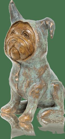Bronzefigur Bébé Bull von Agnès Boulloche