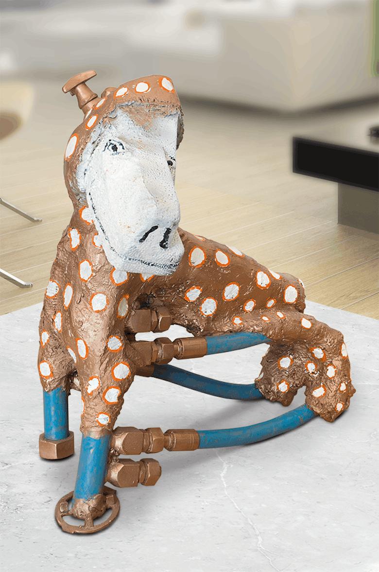 Bronzefigur Dog Machine von Heinz Morszoeck