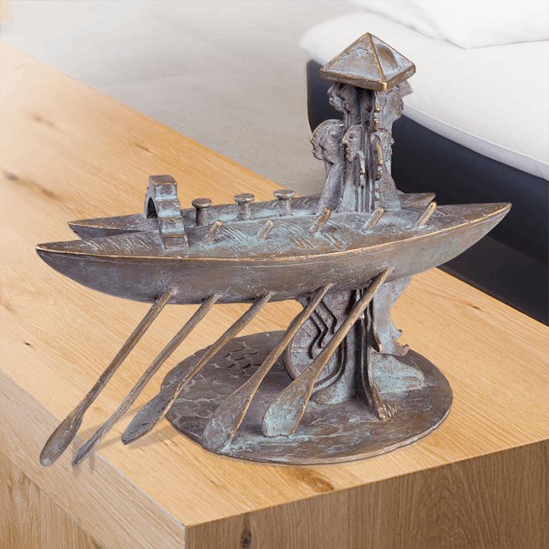 Bronzefigur Sightseeing von Wolfgang Knorr