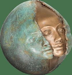 Bronzefigur Metamorphose von Maria-Luise Bodirsky