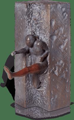 Bronzefigur Der Springer von Jörg Bollin
