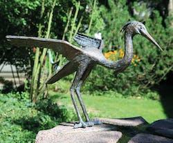 Bronzefigur Fischreiher von Ernst Günzkofer