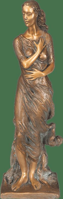 Bronzefigur Winter von Romano Cosci