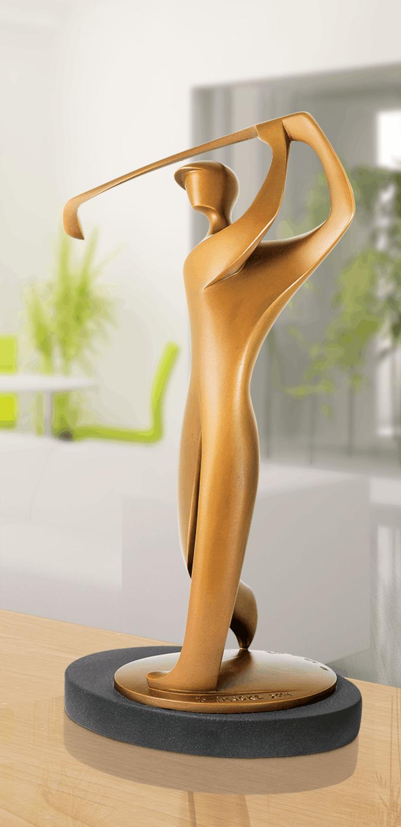 Bronzefigur Golfer von Torsten Mücke