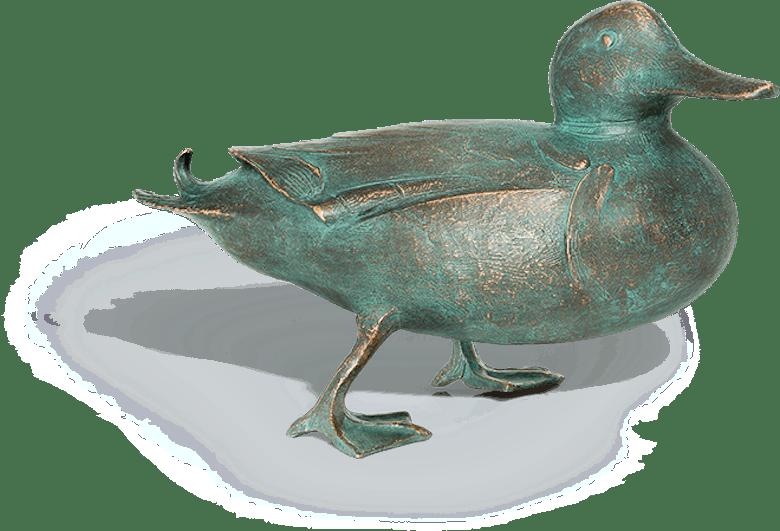 Bronzefigur Stockente von Atelier Strassacker