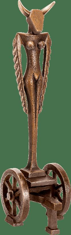 Bronzefigur Stiergöttin von Heinz Rupp