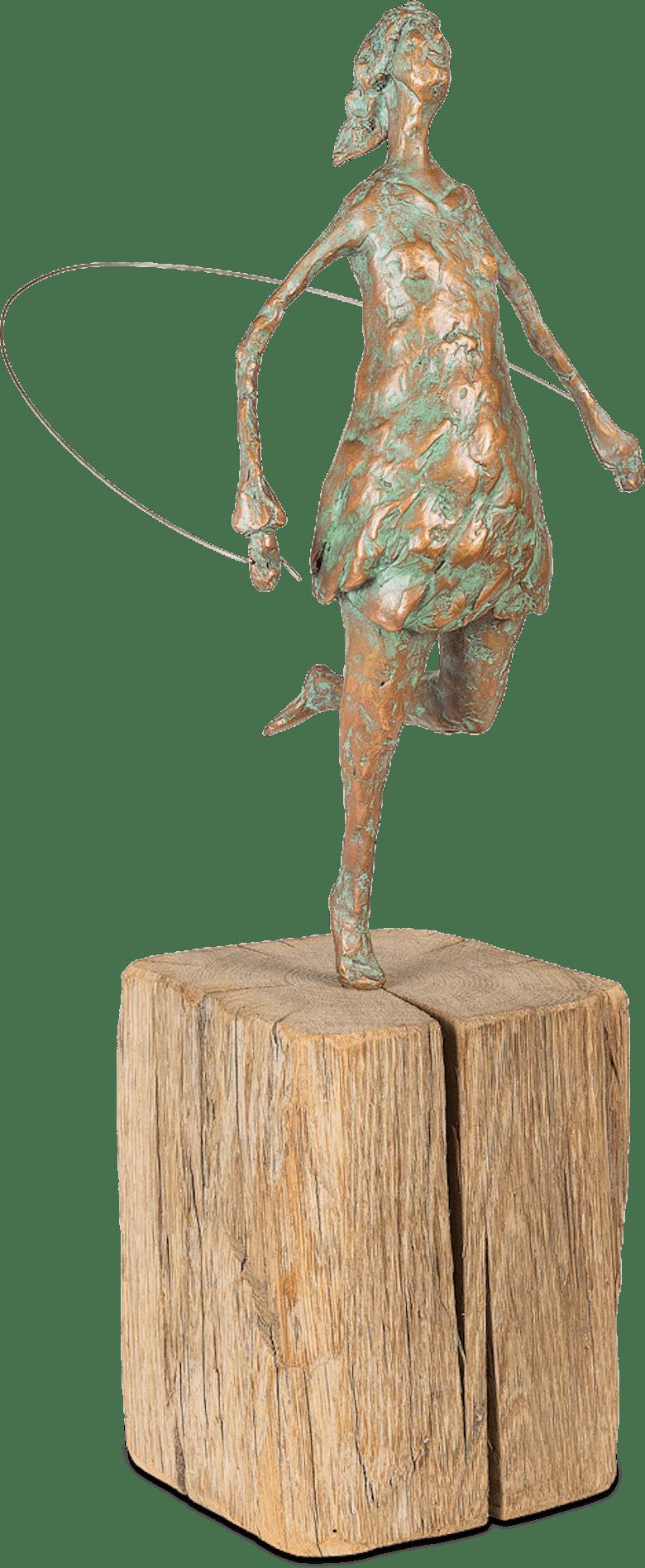 Bronzefigur Seilspringerin von Gudrun Rienhardt