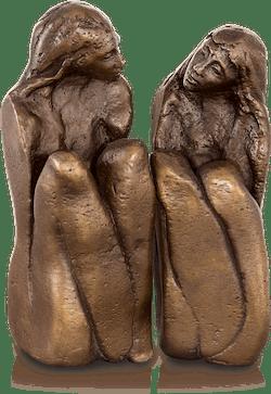 Bronzefigur Freundinnen (2-tlg) von Maria-Luise Bodirsky