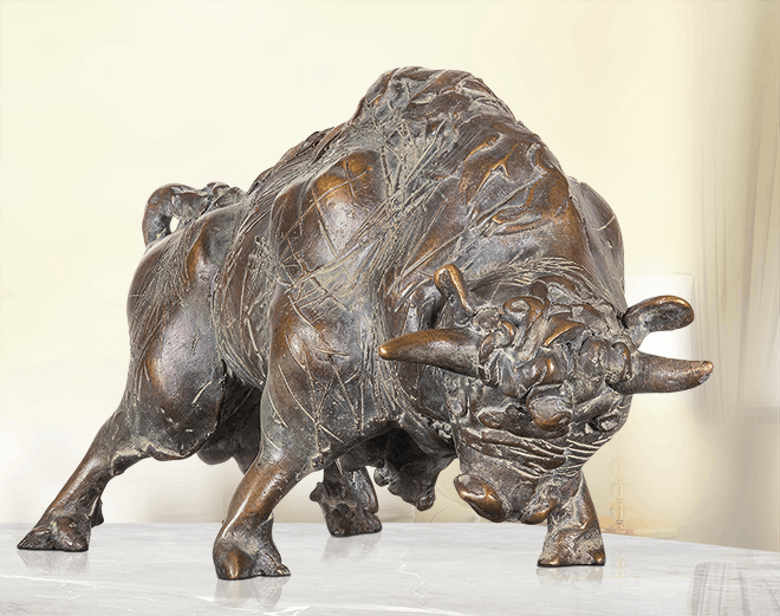 Bronzefigur Stier von Waldemar Schröder