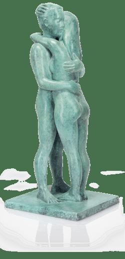 Bronzefigur Liebespaar von Sorina von Keyserling
