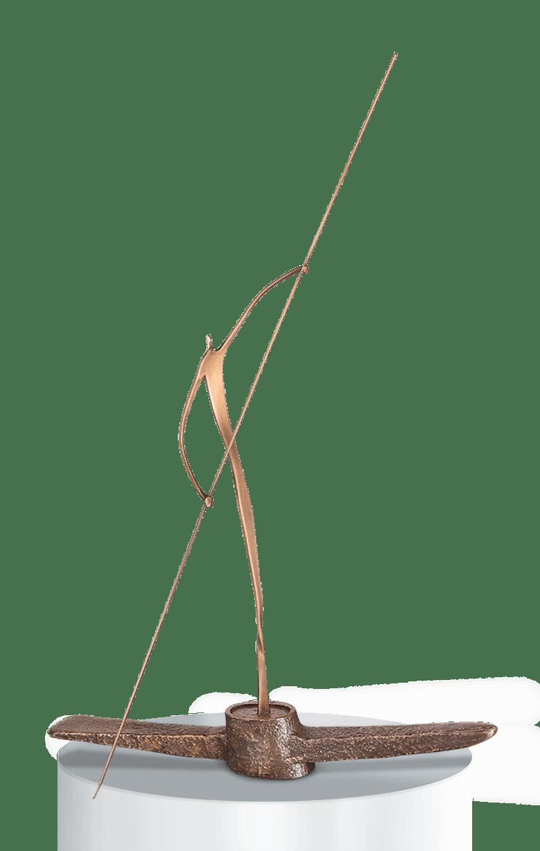 Bronzefigur Gondoliero von Udo Wintgens
