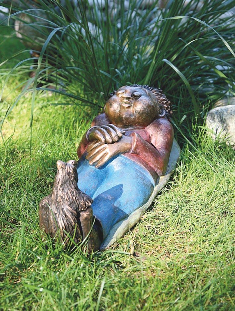 Bronzefigur Otto, der Müde von Catherine Boulogne